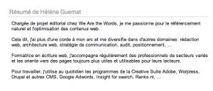 Optimisez votre profil linkedin pour le référencement - We Are the Words
