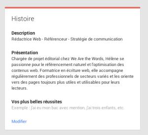 AuthorRank Google - Biographie Hélène Guerriat