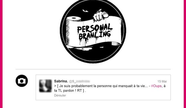 Personal branling : le web se mate à travers une feuille de sopalin