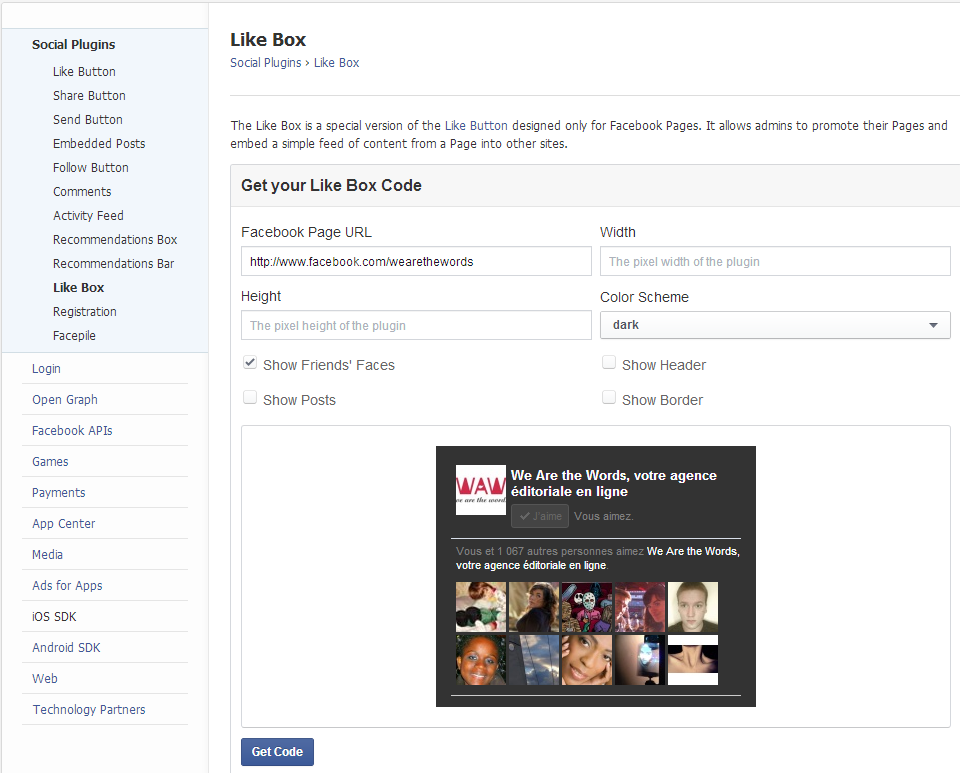 Like box Facebook : un premier widget handmade
