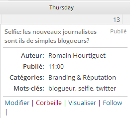 Capture edit flow calendrier éditorial wordpress