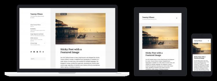 Coup d'oeil sur Twenty Fifteen, le nouveau thème WordPress