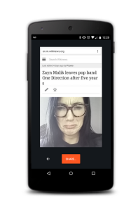 option mobile #Chrome Selfie