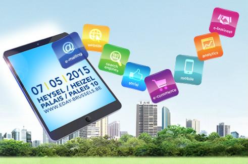 Le 7 mai prochain a lieu l'E-day Brussels : une journée d'informations et de coaching pour développer la présence des PME sur le web.