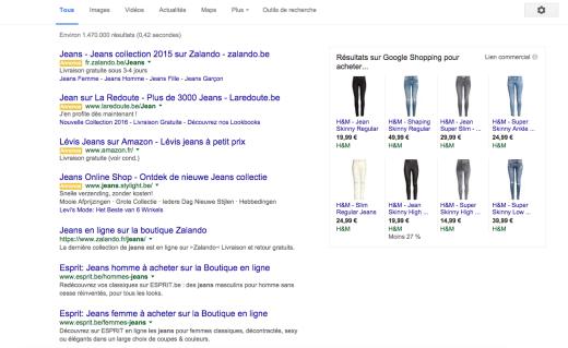 acheter un jeans