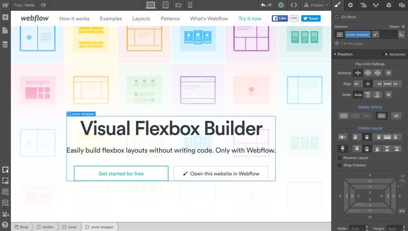 L'éditeur visuel Webflow: du responsive design à la volée