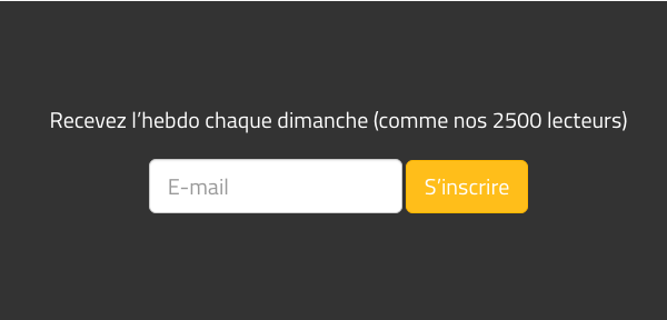 Concevoir une newsletter: un formulaire simple