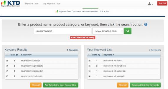Référencement sur Amazon: Keyword Tool Dominator