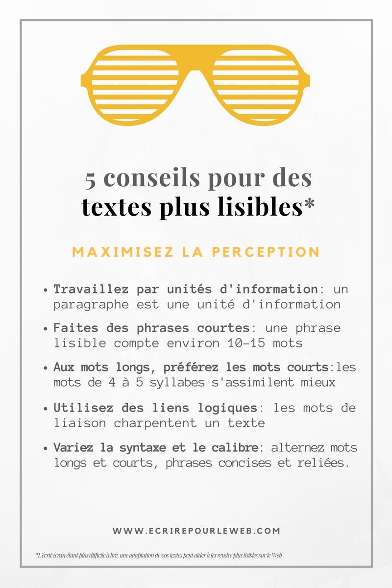 5 conseils pour une bonne lisibilité de vos textes web