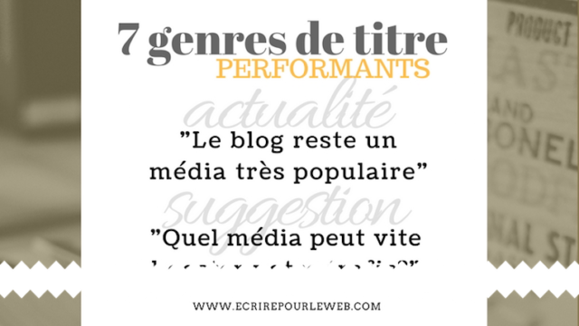 7 genres de titres performants